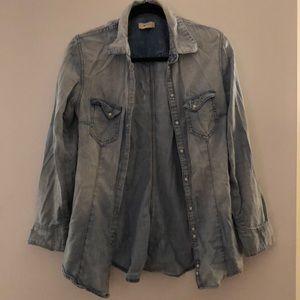 H&M Light Wash Chambray Shirt